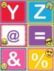EMOJI ABC 123 Number and Letter Cards Shelf Labels