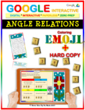 EMOJI - Angle Relations (Google Interactive & Hard Copy)
