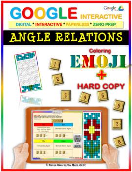 EMOJI - Angle Relations (Google Interactive & Hard Copy)