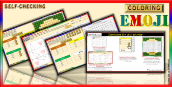 EMOJI - Angle Sum of Triangle (Google Interactive & Hard Copy)