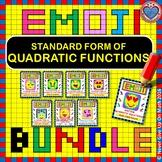 EMOJI - BUNDLE Interpreting Standard Form Quadratic Function 50%+ OFF(8 EMOJIS)