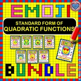 EMOJI - BUNDLE Interpreting Standard Form Quadratic Function (8 EMOJIS)