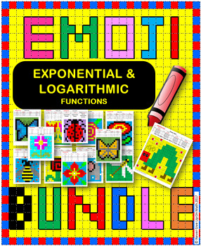 EMOJI - BUNDLE Exponential Growth and Decay with Logarithms (50% OFF)