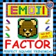 EMOJI - BUNDLE Factor Perfect Square Trinomial - 3 Levels