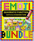 EMOJI - BUNDLE Vertex & Standard Forms of Quadratic Function (17 EMOJIS)
