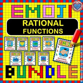 EMOJI - BUNDLE Rational Functions (8 EMOJIS)