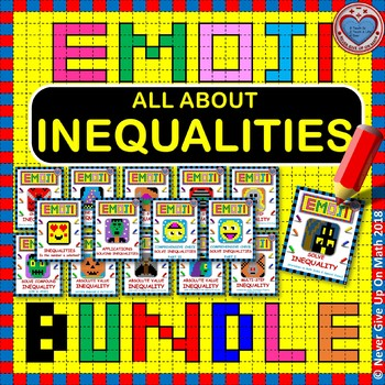 EMOJI - BUNDLE SOLVING INEQUALITIES (14 EMOJIS)