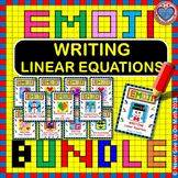 EMOJI - BUNDLE Writing Linear Equations (12 EMOJIS)
