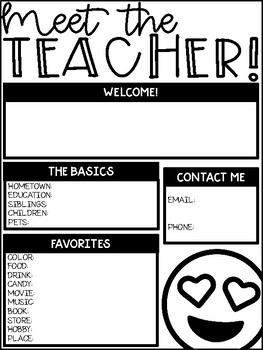 EMOJI Back to School Forms