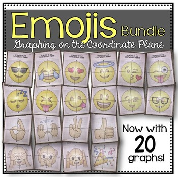 EMOJI Bundle (Graphing on the Coordinate Plane/ Mystery Pictures)