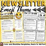 EMOJI CLASS DECOR: EDITABLE CLASSROOM NEWSLETTER TEMPLATES