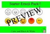 EMOJI CLIP ART- Starter Pack with 5 Different Emotion Faces