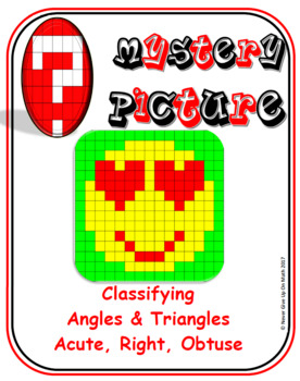 EMOJI - Classify Angles & Triangles (Acute, Right, Obtuse)