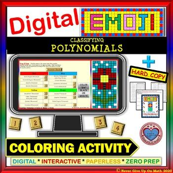 EMOJI - Classifying Polynomials (Google Interactive & Hard Copy)