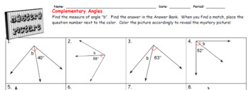 EMOJI - Complementary Angles (Level 1)  (Sum is 90⁰)