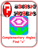 "EMOJI - Complementary Angles (Level 2) - Find ""x"""