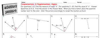 EMOJI - Complementary & Supplementary Angles: Different Models