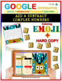 EMOJI - Complex Numbers: Add & Subtract (Google Interactive & Hard Copy)