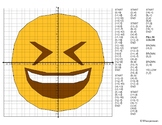 EMOJI Coordinate Graphing Mystery Picture (Smiling Face Wi