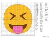 EMOJI Coordinate Graphing Mystery Picture (Face With Stuck