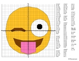 EMOJI Coordinate Graphing Mystery Picture (Face With out T
