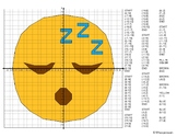 EMOJI Coordinate Graphing Mystery Picture (Sleeping Face)