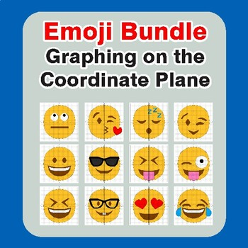 EMOJI Coordinate Graphing Mystery Picture BUNDLE