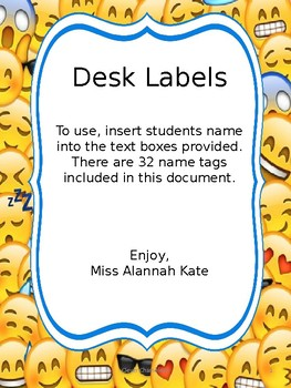 EMOJI Desk Labels