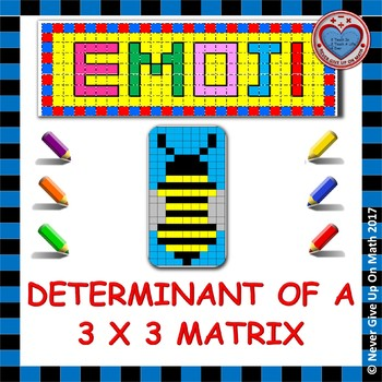 EMOJI - Determinant of a 3x3 Matrix