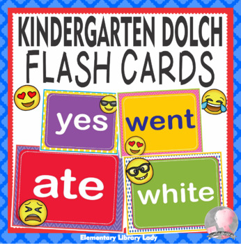 EMOJI Dolch Kindergarten K Grade Sight Words Flash Cards, Letters and Numbers