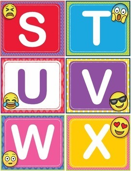 Dolch Sight Words Flash Cards Letters Numbers Pre-Kindergarten Pre-K Emoji