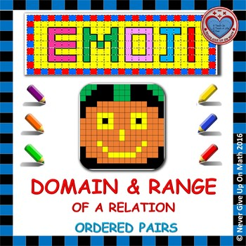 EMOJI - Domain & Range (Given Set of Ordered Pairs)