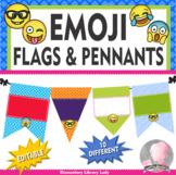 Emoji Decor EDITABLE Pennants Chevrons Flags - Small and Large