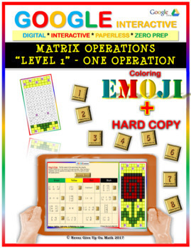 EMOJI - Matrix Operations (Level 1) (Google Interactive & Hard Copy)