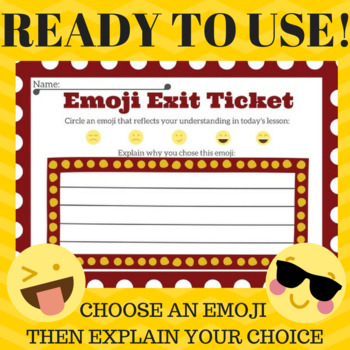EMOJI EXIT SLIP FOR ANY SUBJECT