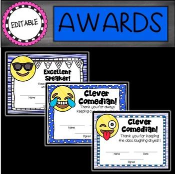 EMOJI Editable End of the Year Awards