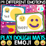Emotion Playdough mats - EMOJI NO PREP Activity Centre - S