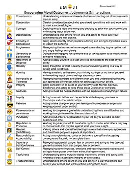 EMOJI (Encouraging Moral Outcomes, Judgements & Interactions