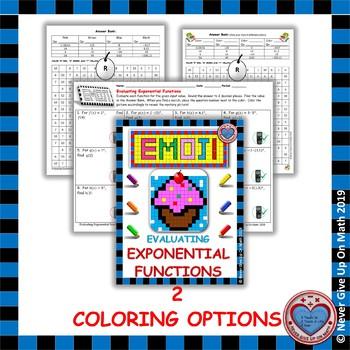 EMOJI - Evaluating Exponential Functions