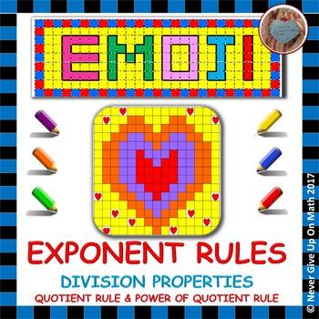 EMOJI - Exponent Rules - Division Properties