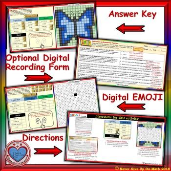 EMOJI - Exponential Functions Applications (Google & Hard Copy)