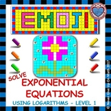 EMOJI - Exponential Functions: Solve Exponential Equations using Log (Level 1)