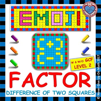 EMOJI - Factor: Difference of Two Squares L1