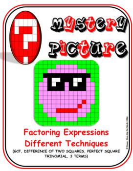 EMOJI - Factor: GCF, Diff 2 SQR, 3 TERMS, & PST (Google Interactive & Hard Copy)