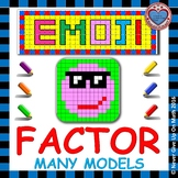 EMOJI - Factor: GCF, Difference of 2 Squares, 3 Terms, Perfect Square Trinomials