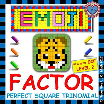 EMOJI - Factor Perfect Square Trinomial: Level 2