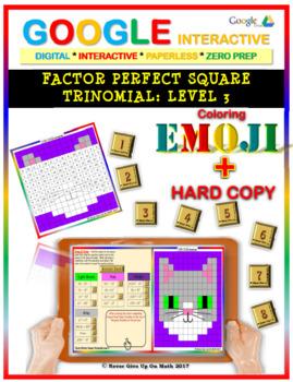 EMOJI - Factor Perfect Square Trinomial: Level 3(Google In