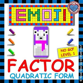 EMOJI - Factor Quadratic Form (EASIEST)