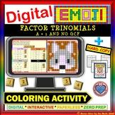 EMOJI - Factor Trinomials a = 1 & No GCF (Google Interactive & Hard Copy)
