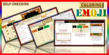 "EMOJI - Factor Trinomials ""a"" PRIME CHALLENGING (Google Interactive & Hard Copy)"